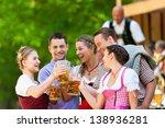 in beer garden in bavaria ... | Shutterstock . vector #138936281