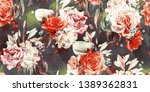 seamless floral pattern with... | Shutterstock . vector #1389362831