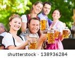 in beer garden   friends in...   Shutterstock . vector #138936284