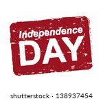 independence day over white... | Shutterstock .eps vector #138937454