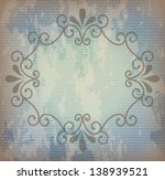 frame blue over vintage... | Shutterstock .eps vector #138939521