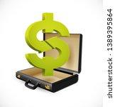 business suitcase   finance...   Shutterstock .eps vector #1389395864