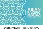 asian pacific american heritage ... | Shutterstock .eps vector #1389400097