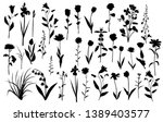 collection of flower... | Shutterstock .eps vector #1389403577