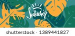 colorful summer banner with... | Shutterstock .eps vector #1389441827