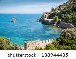 sea beach  in alanya  turkey   Shutterstock . vector #138944435