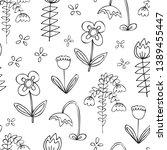 floral vector seamless pattern. ... | Shutterstock .eps vector #1389455447