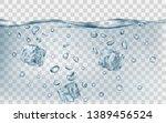three translucent gray ice... | Shutterstock .eps vector #1389456524