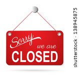 red closed sign on white.... | Shutterstock . vector #138945875