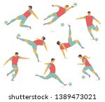 set of characters of football ... | Shutterstock .eps vector #1389473021