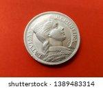 5 lats obsolete latvian coin... | Shutterstock . vector #1389483314