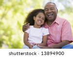 grandfather and granddaughter...   Shutterstock . vector #13894900