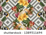 vintage beautiful and trendy... | Shutterstock . vector #1389511694