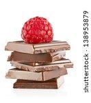 raspberry and chocolate   Shutterstock . vector #138953879