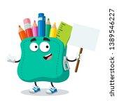 cartoon joyful school soft... | Shutterstock .eps vector #1389546227