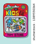 toy case there are many toys...   Shutterstock .eps vector #1389550364