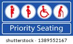 Set Of Priority Seating Sticker ...