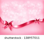 holiday pink background with...   Shutterstock . vector #138957011