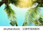 summer background  sunlight... | Shutterstock . vector #1389584804