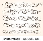 set of elegant decorative... | Shutterstock .eps vector #1389588131