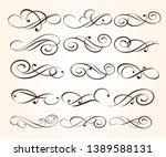 set of elegant decorative... | Shutterstock .eps vector #1389588131