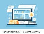 3d isometric schedule equipment ... | Shutterstock .eps vector #1389588947