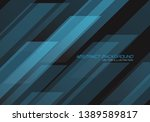 abstract blue geometric pattern ... | Shutterstock .eps vector #1389589817
