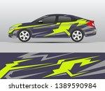 car livery design vector.... | Shutterstock .eps vector #1389590984