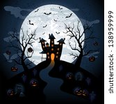 halloween night background with ... | Shutterstock . vector #138959999