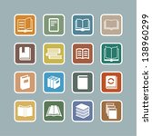 book icons set. | Shutterstock .eps vector #138960299