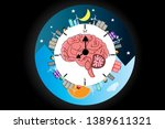 the circadian rhythms are... | Shutterstock .eps vector #1389611321