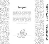 superfood banner template with...   Shutterstock .eps vector #1389623387