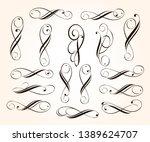 elegant elements of design... | Shutterstock .eps vector #1389624707