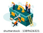 chat equipment  download tool ... | Shutterstock .eps vector #1389626321