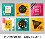 set of promotion square banners.... | Shutterstock .eps vector #1389631547