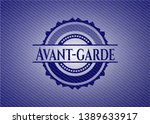 avant garde emblem with denim... | Shutterstock .eps vector #1389633917
