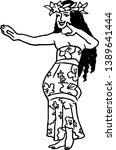 vector illustration of hawaiian ... | Shutterstock .eps vector #1389641444