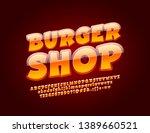 vector glossy emblem burger... | Shutterstock .eps vector #1389660521