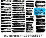big collection of black paint ... | Shutterstock .eps vector #1389665987