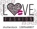 slogan love fashion with... | Shutterstock .eps vector #1389668807