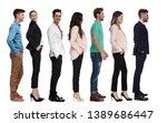 smart casual people waiting in... | Shutterstock . vector #1389686447