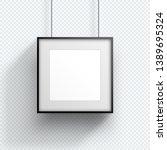 photo frame single hanging down ...   Shutterstock .eps vector #1389695324