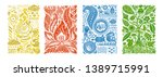 four elements concept. banners... | Shutterstock .eps vector #1389715991