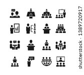 business conference vector icon ... | Shutterstock .eps vector #1389720917