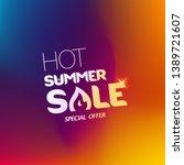 hot summer sale special offer... | Shutterstock .eps vector #1389721607