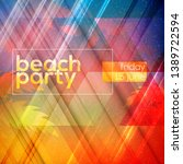 summer night party flyer.... | Shutterstock .eps vector #1389722594