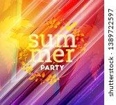 summer night party flyer.... | Shutterstock .eps vector #1389722597