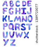 watercolor font space inspired... | Shutterstock . vector #1389723077