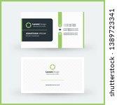 double sided horizontal modern... | Shutterstock .eps vector #1389723341