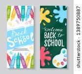 back to school banner. vector... | Shutterstock .eps vector #1389750887